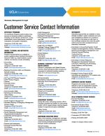 Customer Service Contact Information