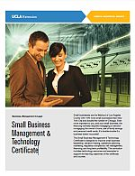 Small Business Management & Technology Certificate Brochure