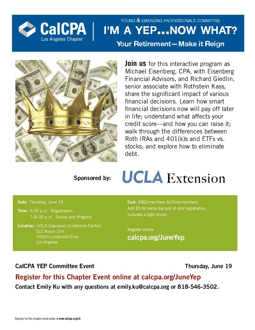 CalCPA YEP - UCLA Extension Business, Management, and Legal